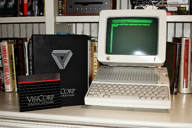 Apple II con Visicalc