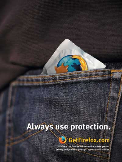 Always use protection: Get Firefox