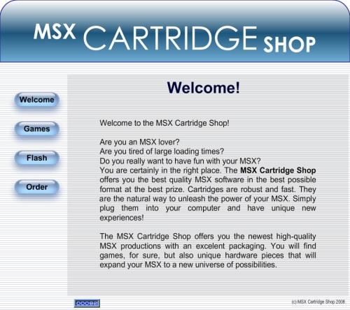 MSX Cartridge Shop