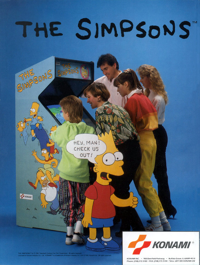 Simpsons Arcade Flyer
